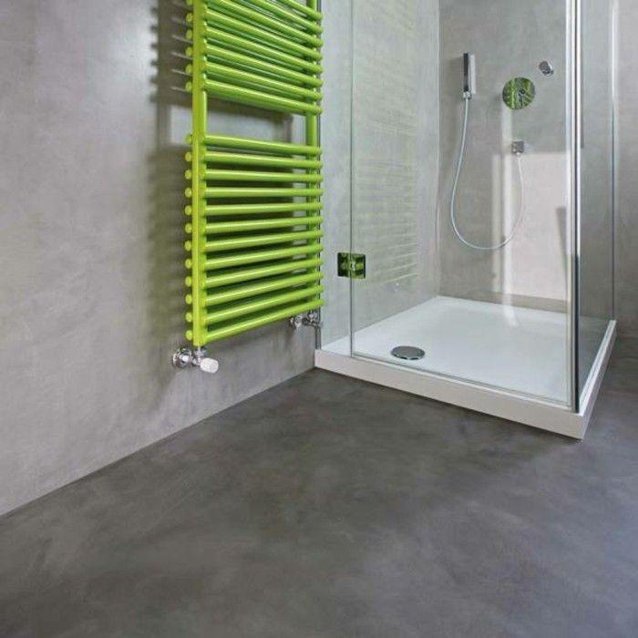 Bagni senza piastrelle pareti pittura grigio chiaro pavimento grigio scuro box doccia bagno - Pareti bagno senza piastrelle ...