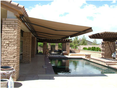High Quality Sand 10 X 8 Retractable Patio Awning Canopy Outdoor Awnings Patio Awning Patio Design