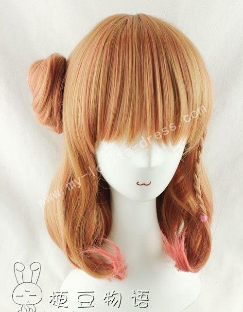 Photo of Shoulder Long Inner Curls Ponytail Bun Lolita Wig for Girls –  #Bun #curls #girls #inner #lol…