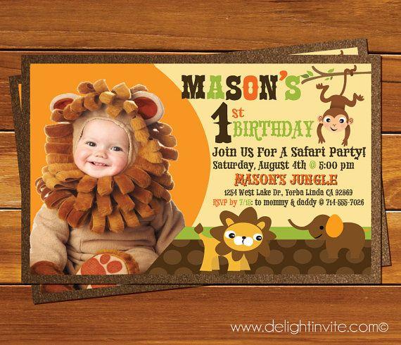 Safari 1st  Birthday Invitation and Custom by DelightInvite, $2.49