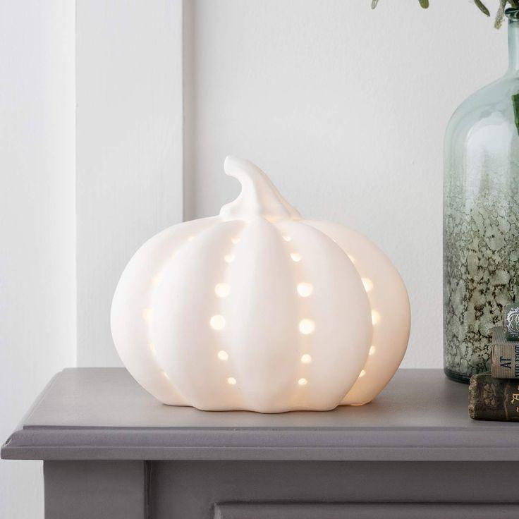 AFFILIATELINK Lights4fun LED Keramik Kürbis Warmweiß
