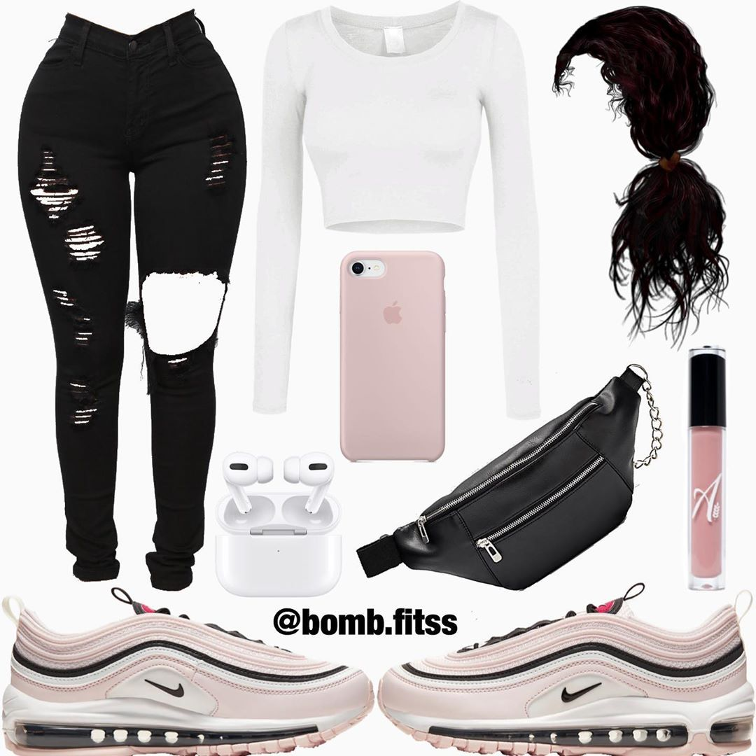Fashion Girl Outfits Nike Air Max 97 Sneakers   Sneakers