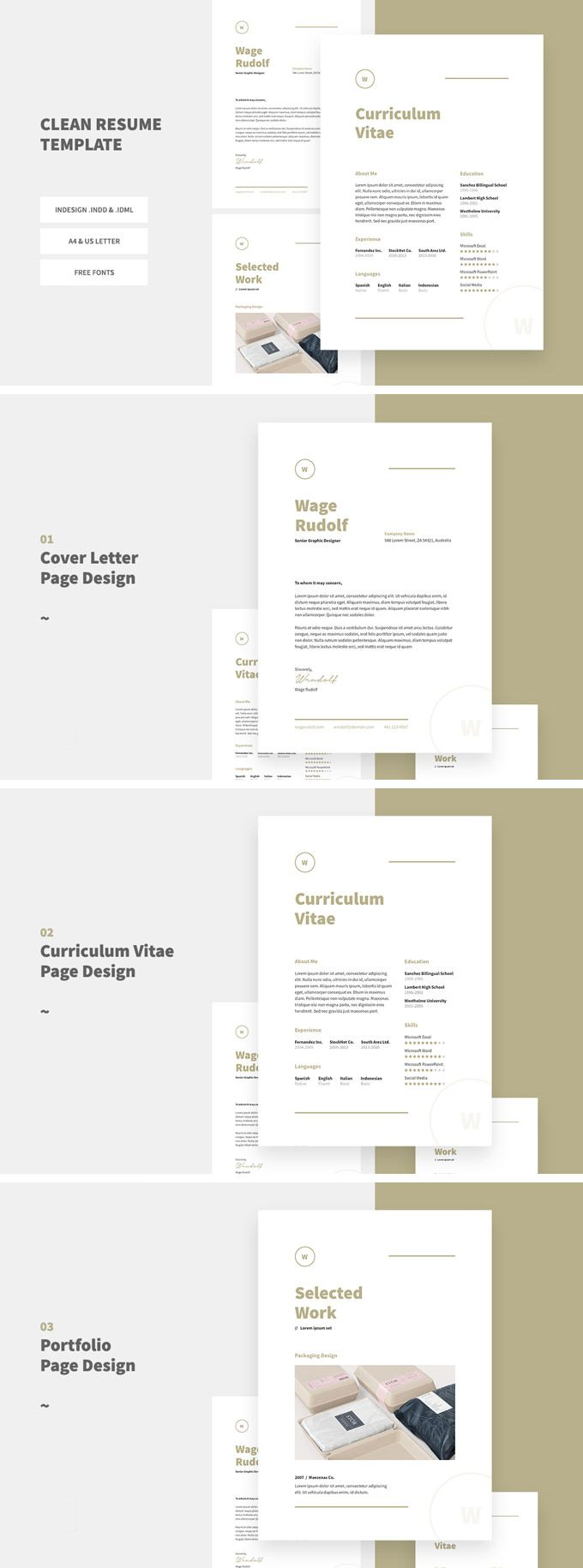 free cv print template download resume template for indesign