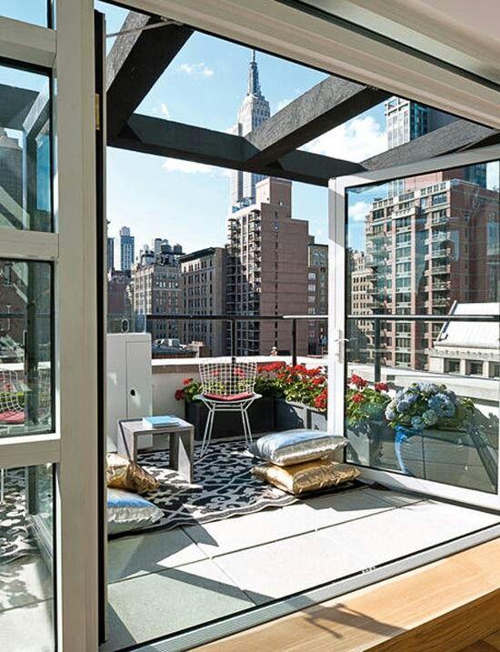 apartment patio privacy ideas wonderful manhattan   35 Small Balcony Gardens   New york penthouse, Dream ...