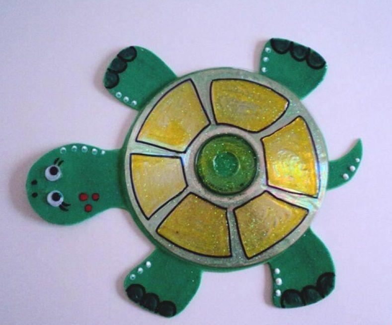 Wonderful Cd Craft Ideas For Kids Part - 4: CD Craft Idea For Kids | Funnycrafts