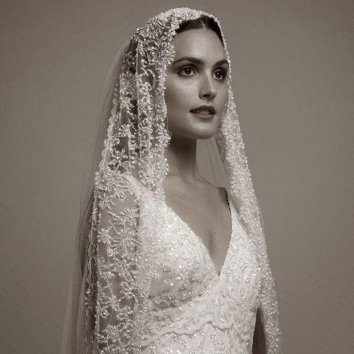 Wedding Veils Spanish Black Laces