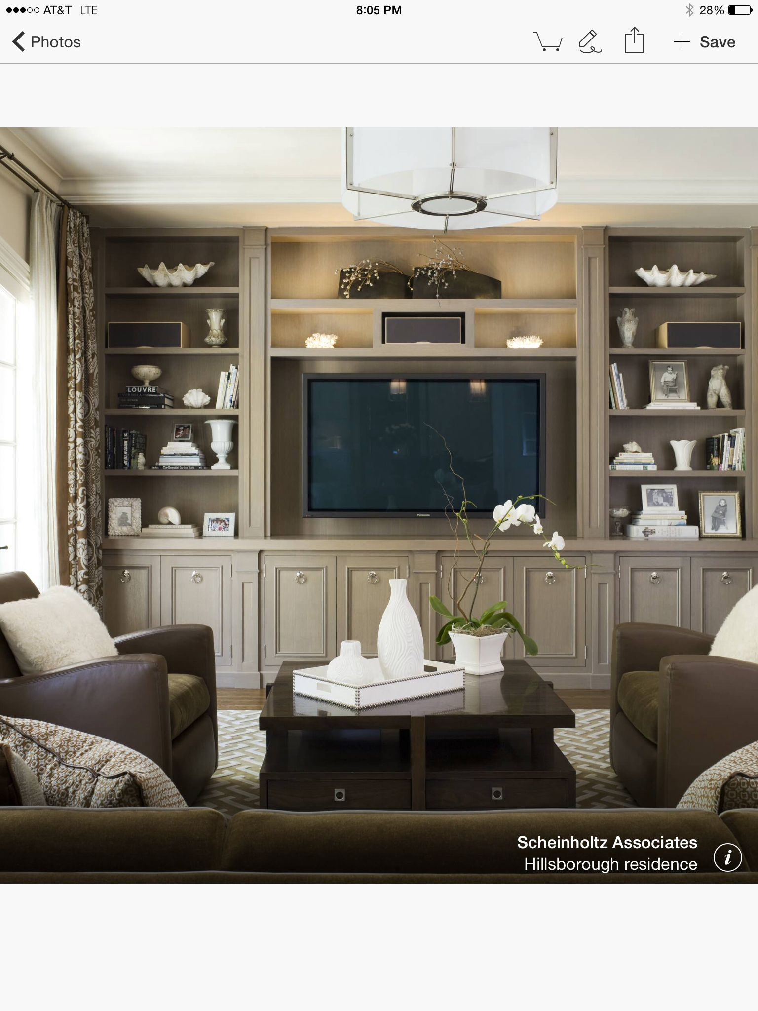 Design For Living Room Tv Cabinet: Living Room Built In Cabinets, Traditional