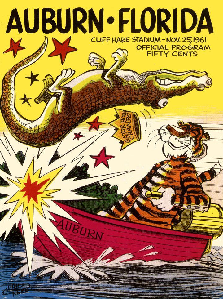 1961 Auburn Tigers vs Florida Gators 36 x 48 Canvas