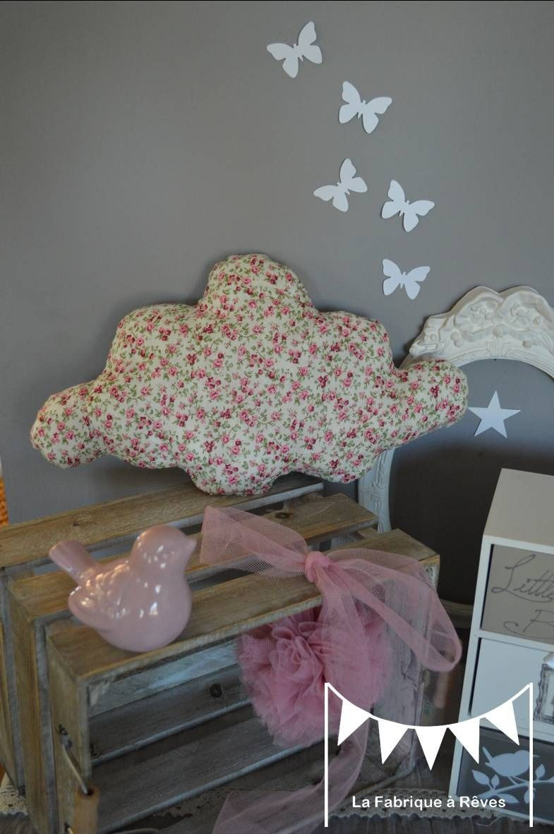 coussin nuage grand mod le coton liberty fleuri rose. Black Bedroom Furniture Sets. Home Design Ideas