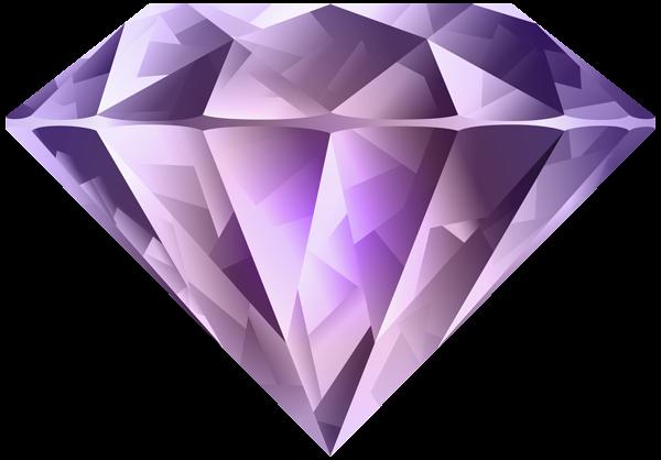 Purple Diamond Transparent Png Clip Art Image Purple Diamond Free Clip Art Crystals And Gemstones