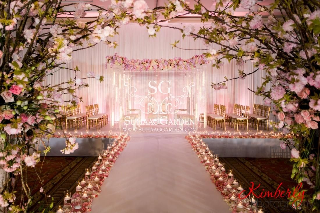 event decor, Cherry Blossom Event design, Florida wedding decorator, Indian  w… | Indian wedding decorations, Hotel wedding ceremony decorations, Wedding  decorations