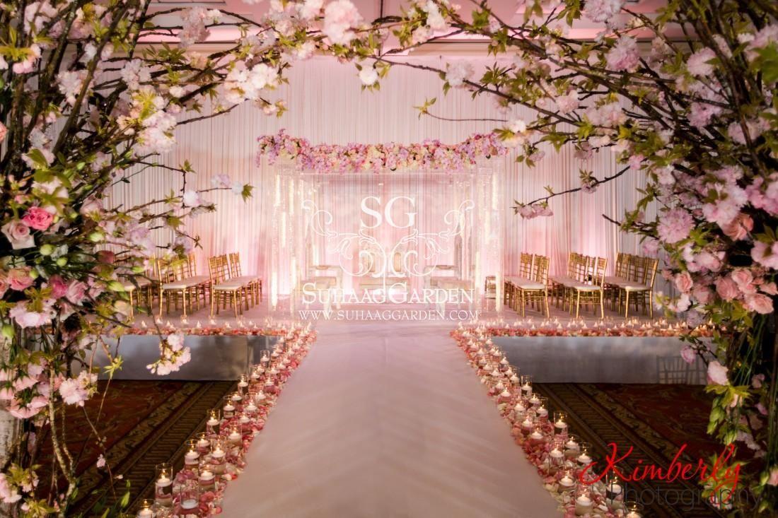 Event Decor Cherry Blossom Design Florida Wedding Decorator Indian
