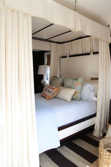 Four Poster Bed With Curtains All Around B E D R O O M