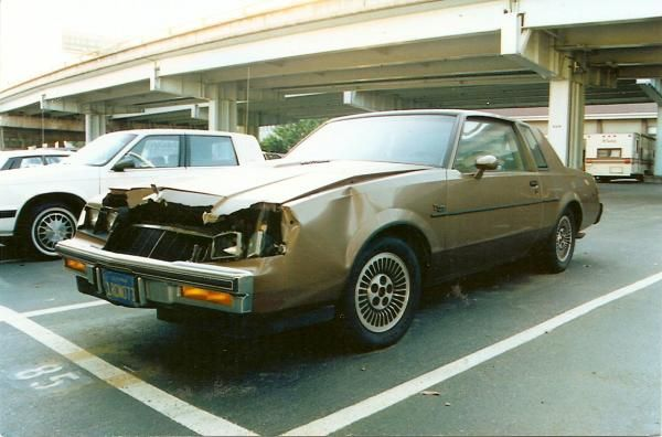 Wrecked Buick Regal T Type Owned And Wrecked By The Fbi This Is
