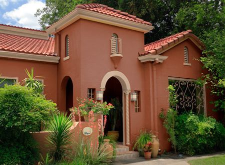 Mexican wall colours to match red roof google search for Exterior paint colors arizona