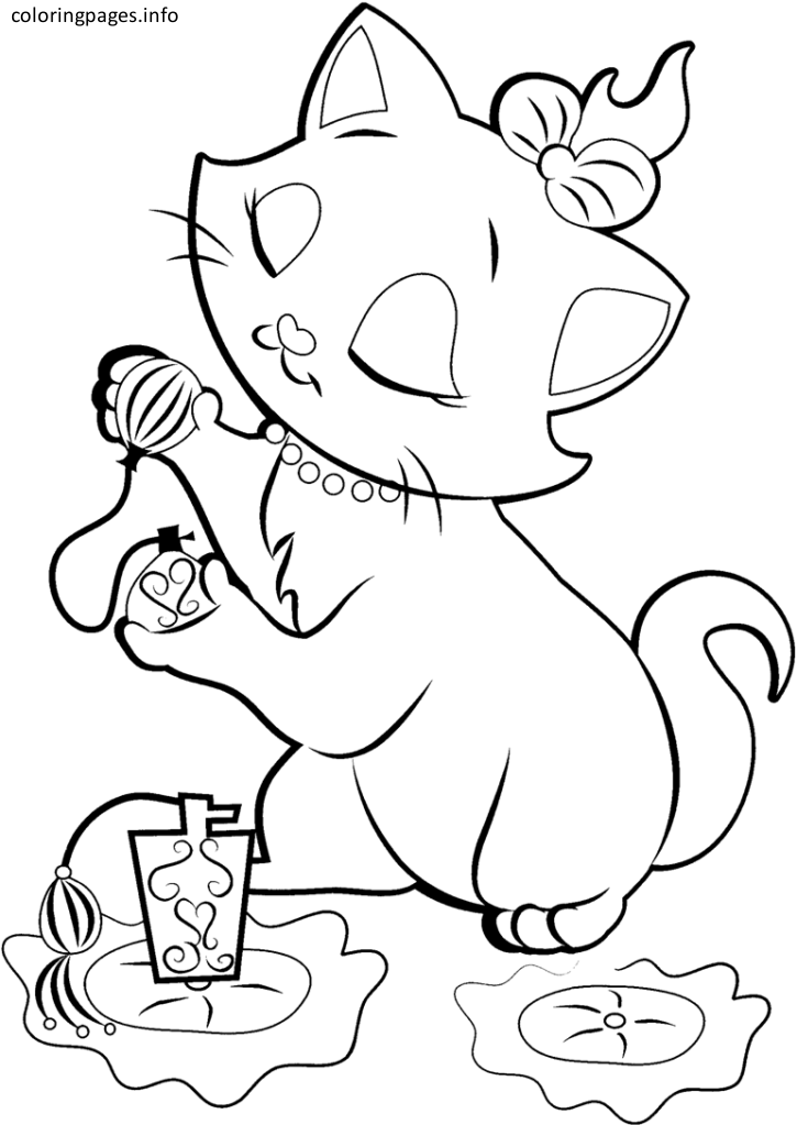 disney marie cat coloring pages - Aristocats Duchess Coloring Pages