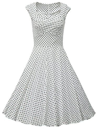 Rockabilly 50s Retro Audrey Hepburn Pinup Swing Polka Dots Dress ** Find out more about the great product at the image link. (This is an affiliate link and I receive a commission for the sales)