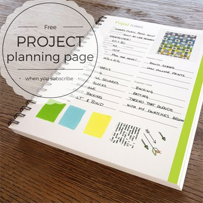 This quilt project Planner page is so much fun to use. You can ... : planning a quilt - Adamdwight.com