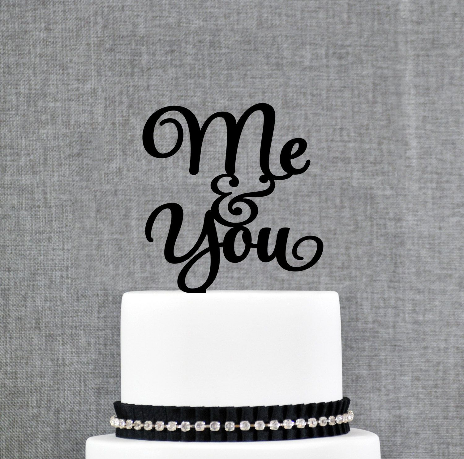 Me and you wedding cake topper love song cake toppers country