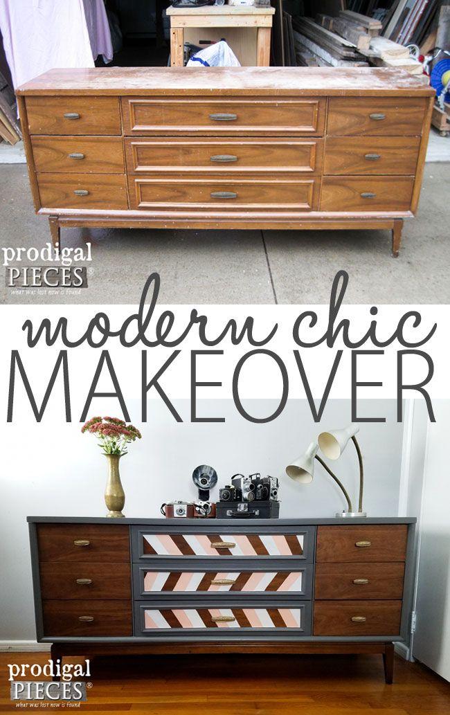 Mid Century Modern Dresser Makeover