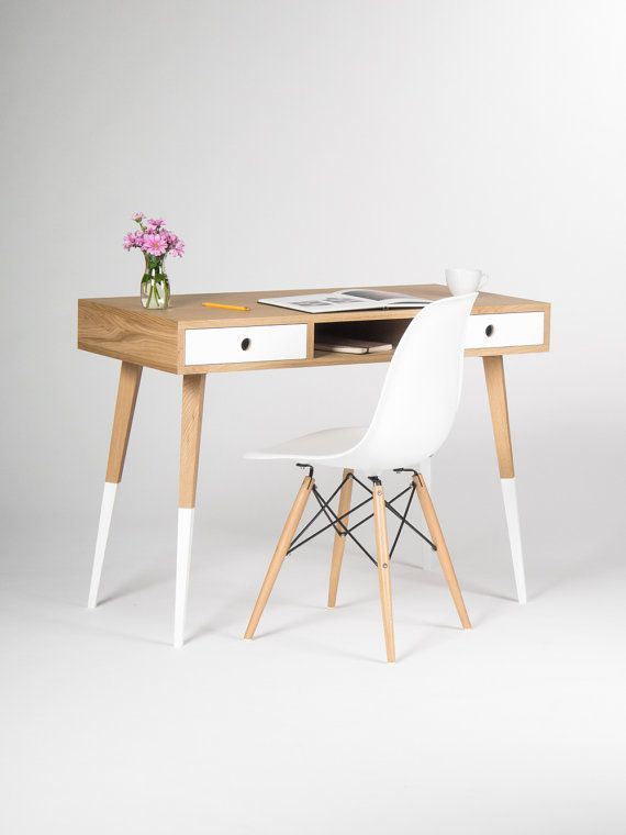 Home office computer desk, bureau, dressing table, with white ...