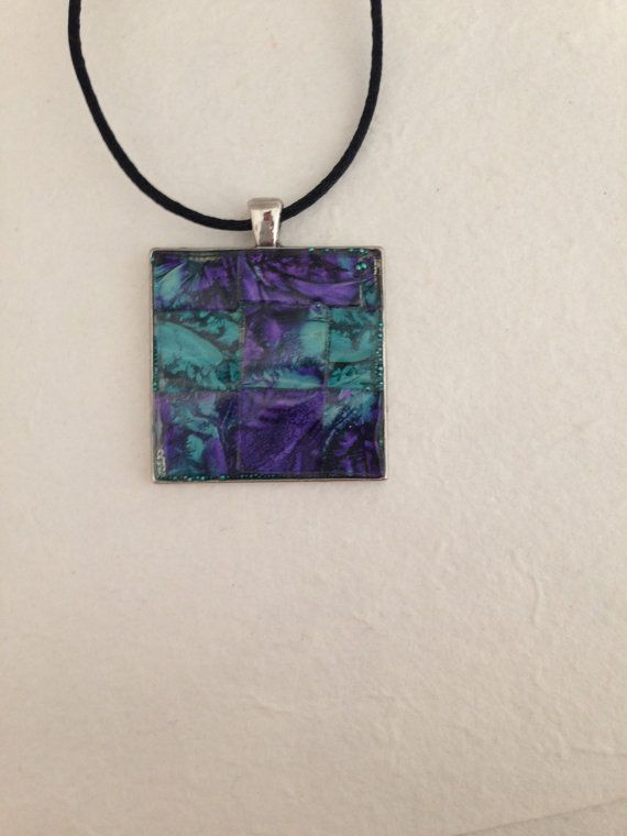 Hand crafted mosaic pendant necklace by MosaicPendantsPlus on Etsy