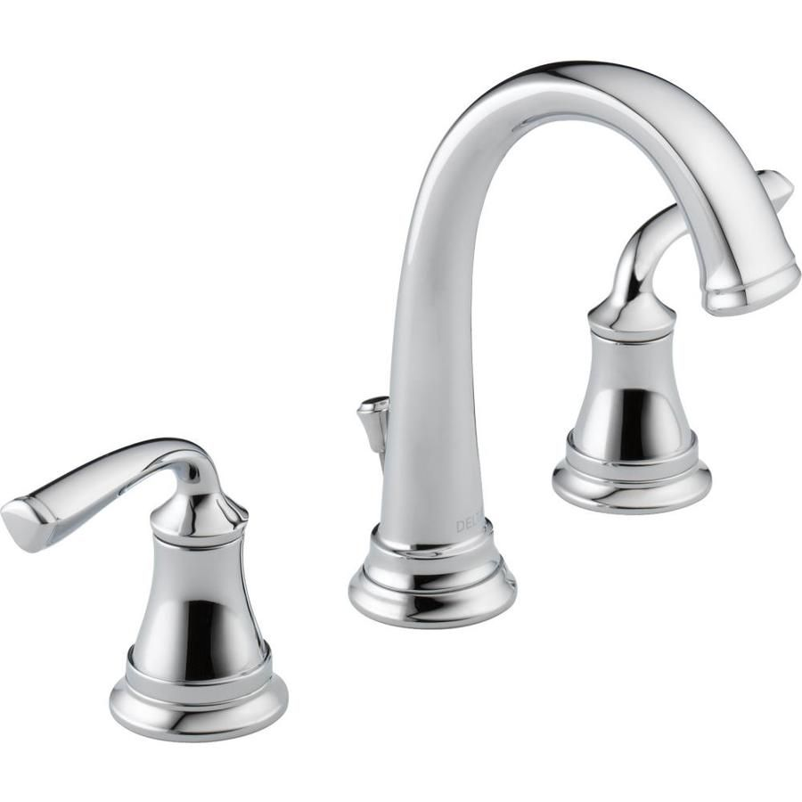 Lowes for 109 delta lorain chrome 2 handle widespread watersense bathroom faucet drain included