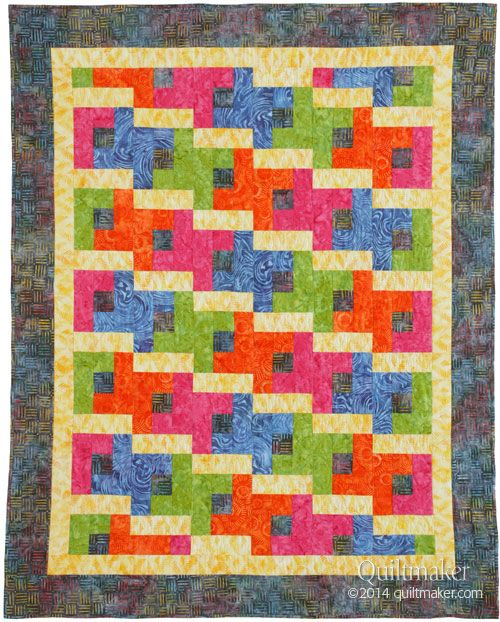 free pattern, Hip-Hopscotch quilt by Janice Averill. Made by Pam ...