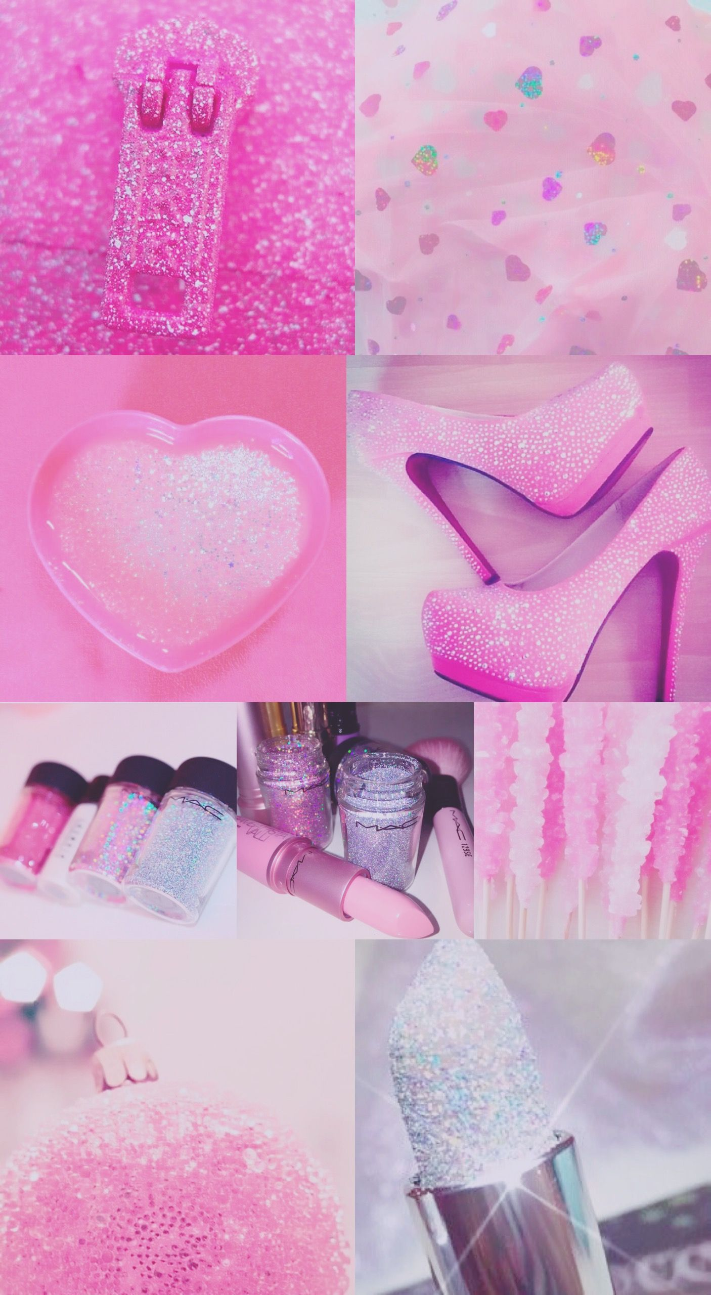 pink purple sparkly glitter glittery iPhone background