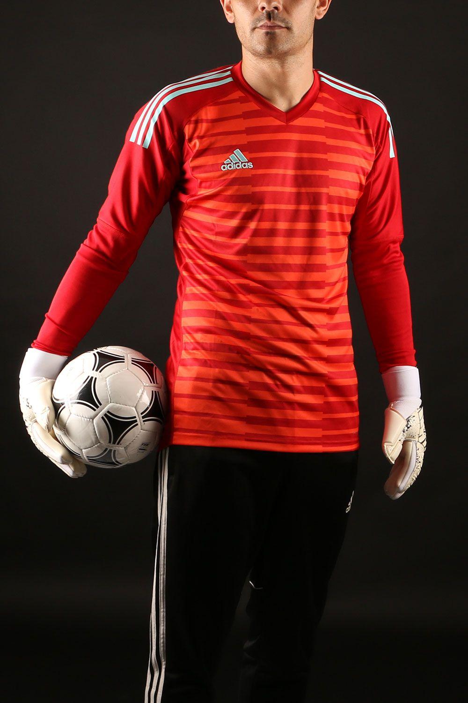 Camiseta de manga larga de portero adidas - roja  3d75ba9e43fc1