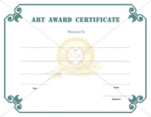 Art Award Certificate Template Present To Students  If You Are A