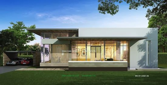 Modern Tropical House Design single story house plans, modern style, living area 240 sq.m, home