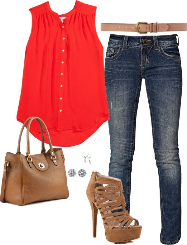 """""""Pop of Red"""" by murphy-taylor on Polyvore"""