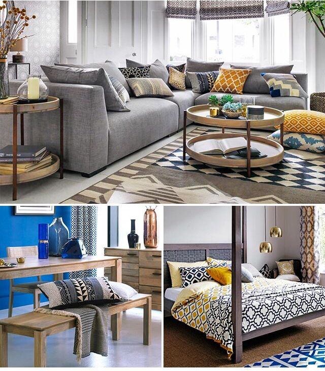 Another mustard, grey and navy theme !! | My home design ...