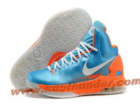 wholesale dealer 17117 cfcf8 Nike Zoom KD 5 V Blue Orange White Basketball Shoes