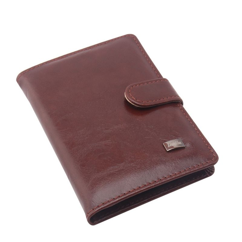 PU Leather Passport Cover Credit Card Wallets Men Travel Wallet ...