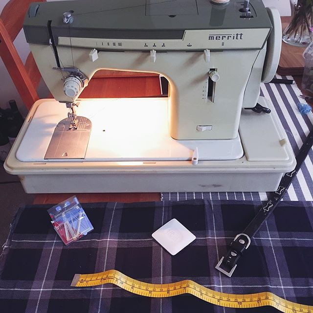 Time for a quick sew - our old school Merritt is working away!