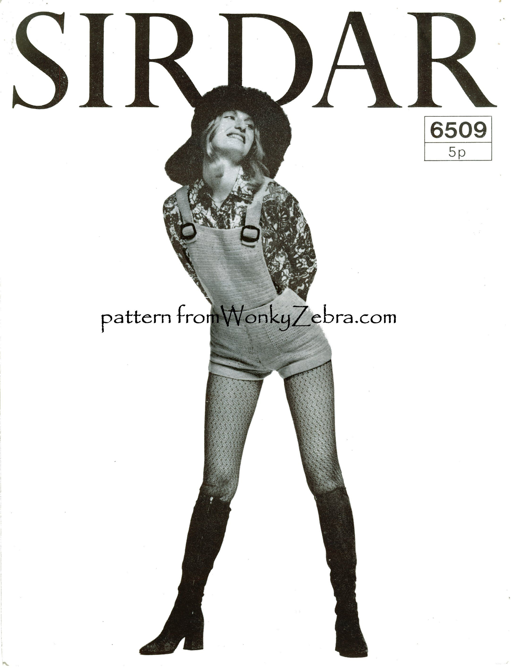 WZ644 shorts and bib top, to crochet from PDF pattern (Sirdar6509 ...