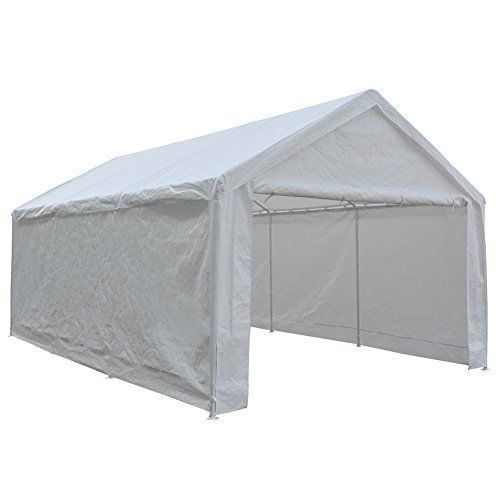 Carports Abba Patio 12 X 20feet Heavy Duty Domain Carport Car Canopy Shelter With 2 Removable Side Panels 1 Door Panel Car Canopy Canopy Shelter Car Shelter