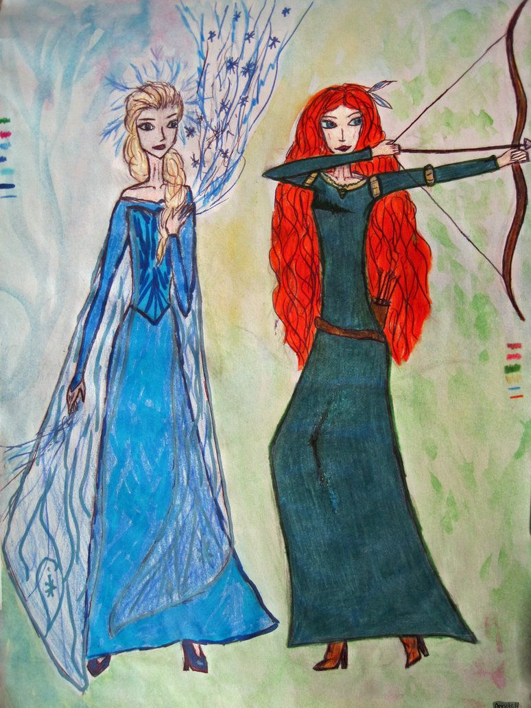 elsa_and_merida_by_annetelf-d7w8mgx.jpg (774×1032)