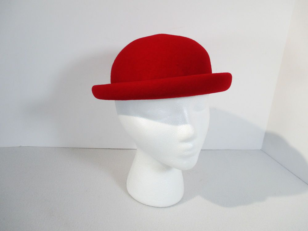 1c5d1f885fbd6 Red Fedora Hat Wool Felt Brown Velvet Ribbon Vintage Derby Haverhill  Bradford 6  Fedora