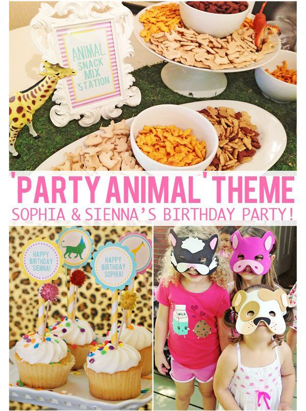 The Girls PARTY ANIMAL 3rd 5th Birthday Party Party games