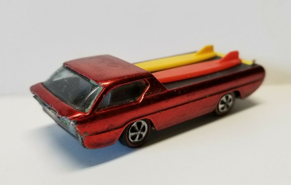 1967 Hot Wheels Redline Deora Original Surfboards Mattel Red