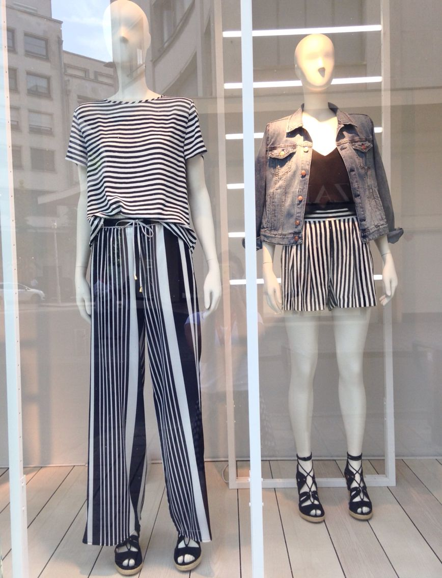 Downtown Hm Fashion Summer Window And Indoor Visual Merchandising
