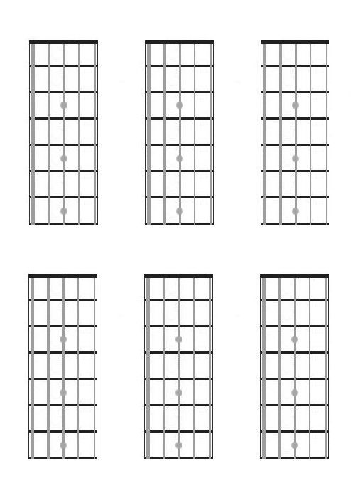 bass fretboard diagram blank