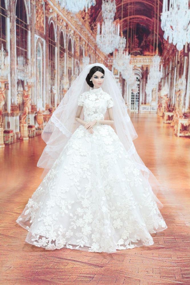 Wedding Dress Fashion Royalty Silkstone Barbie l VEIL LACE OOAK ...