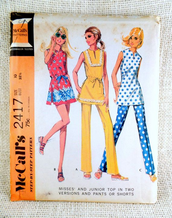 Mccall S 2417 Vintage Sewing Pattern Mini By Momandpopcultureshop