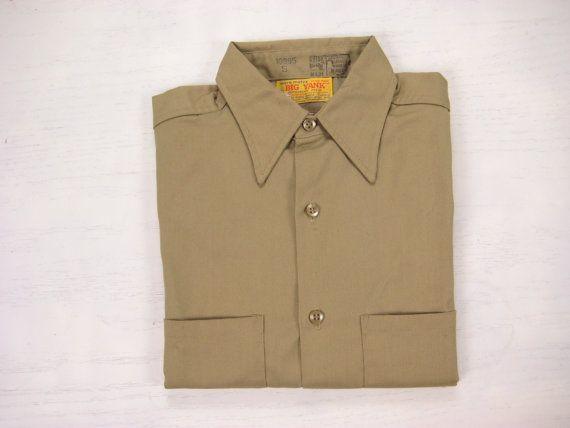 NOS 1970s Big Yank Work Shirt Vintage Mens by NormalAveVintage