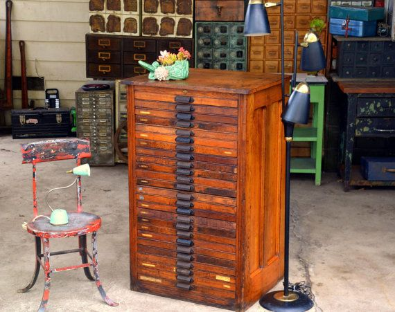 Antique Hamilton Letterpress Type Cabinet: by MerlesVintage | MAP ...