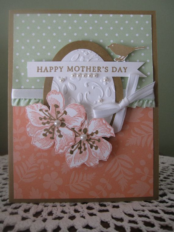 handmade greeting card happy mother's day in beautiful
